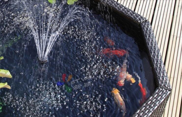 鱼缸假山流水喷泉水景