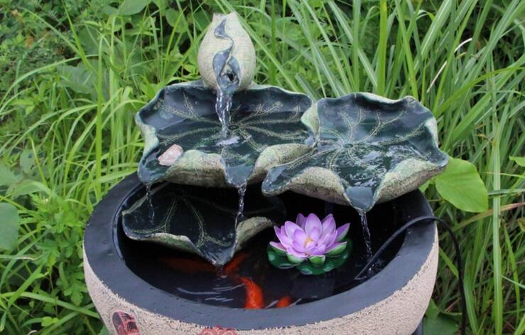 新中式家居创意田园假山大摆设流水景小喷泉