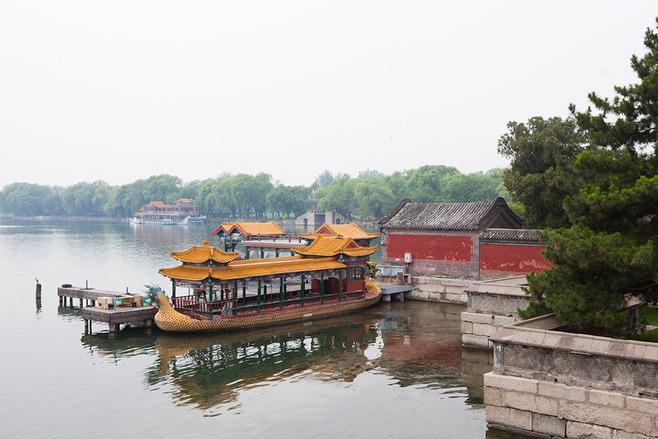 北京颐和园画舫