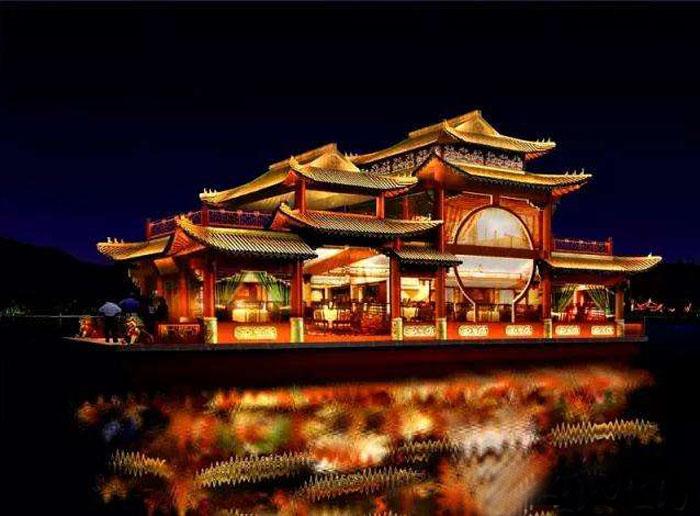 杭州西湖巨型画舫