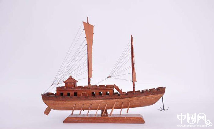 木质画舫船模型