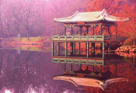 南京中山陵水榭风光