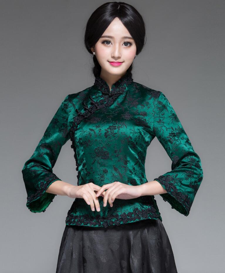 中式唐装女装复古上衣