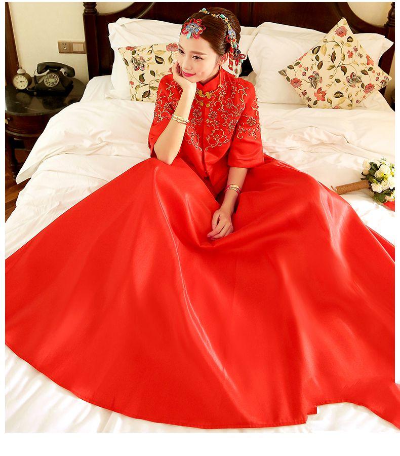 秀禾服新款春季中式婚纱礼服