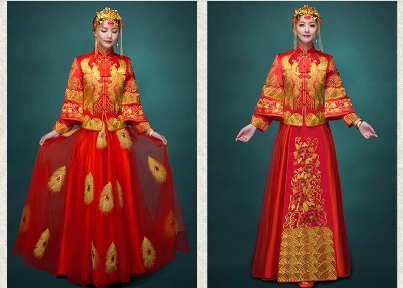 秀禾服新娘礼服嫁衣喜服,中式婚纱礼服