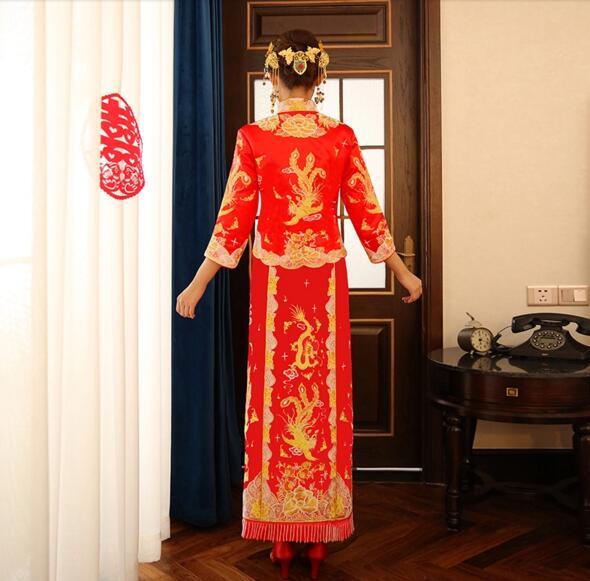 中式嫁衣龙凤褂裙新娘礼服