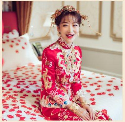 秀禾服新娘嫁衣中式婚纱结婚礼