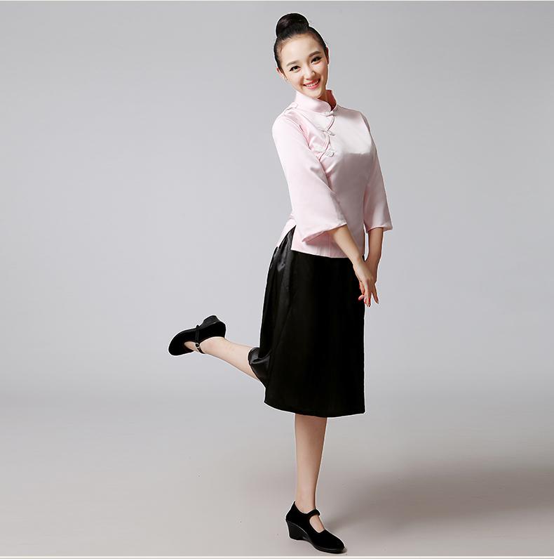 五四青年中山装女复古文艺学生演出服