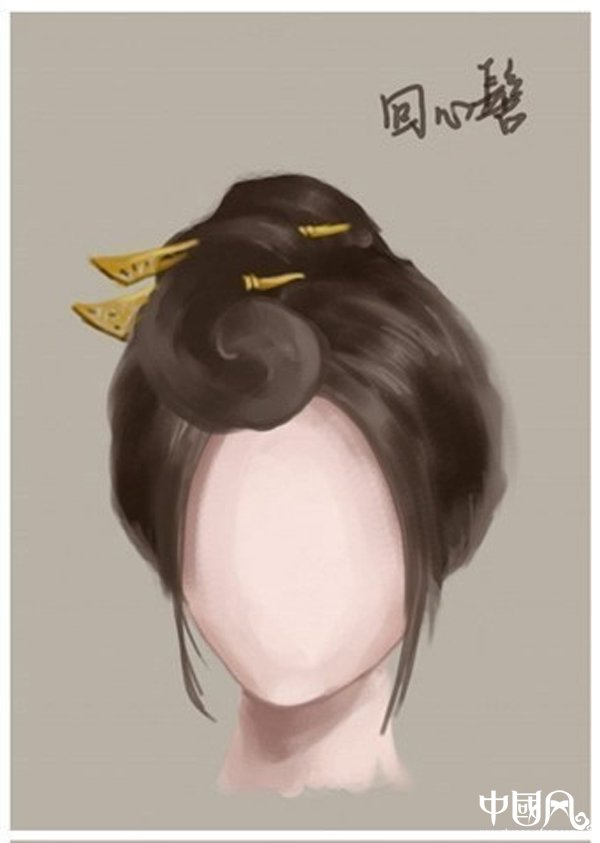 中国风女子古装发型参考(九)