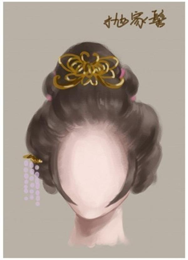 中国风女子古装发型参考