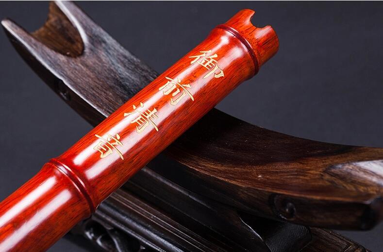 珍藏红檀木萧乐器