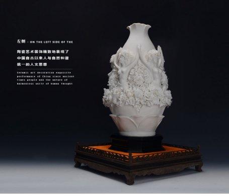 创意家居植物饰品摆件,白瓷瓷