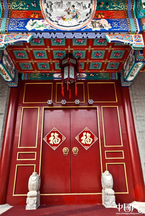 酒店中式大门