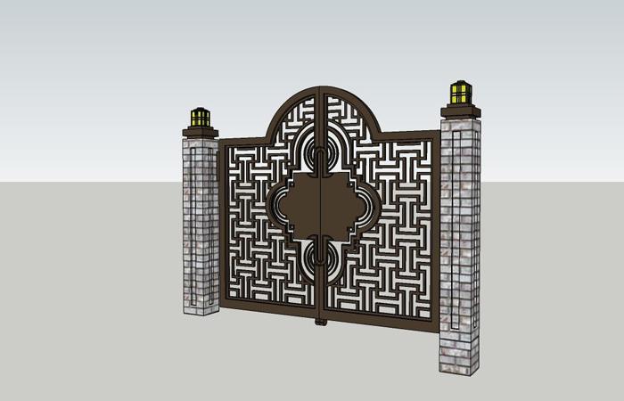 中式铁艺大门