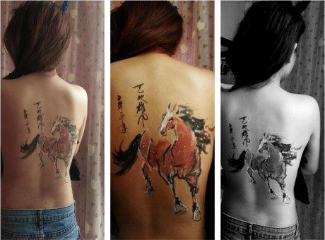 中国风人体彩绘,彩绘艺术