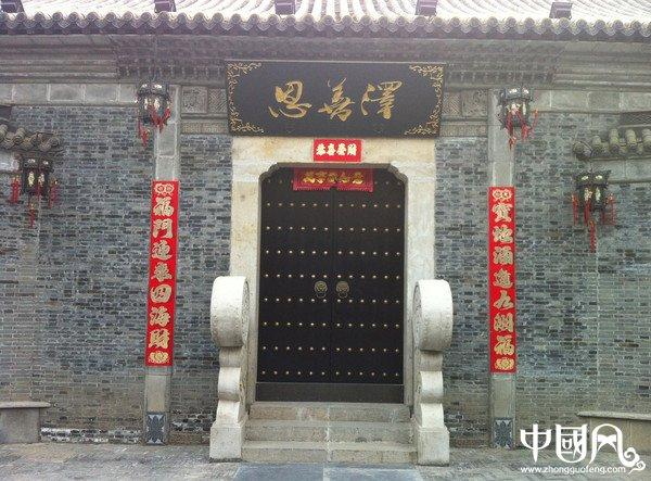 中国风复古中式大门