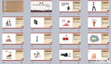 网络新成语图解释义中国风ppt模板