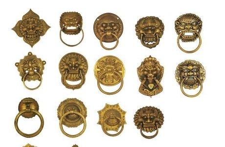 中国风古典铜牌铜环全集PSD素材