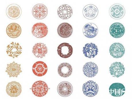 中国风传统复古花纹ai图片
