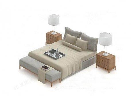 中式床3D模型