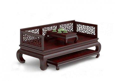 家具罗汉床3D模型下载