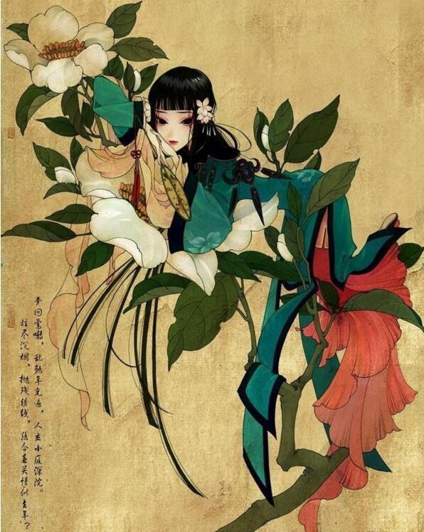 爱情故事故事动漫图片_夏达《游园惊梦》中国风漫画图片- 中国风