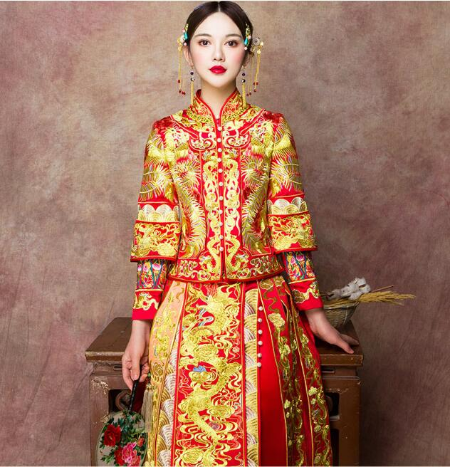 中式新娘服中国风嫁衣中式礼服图片