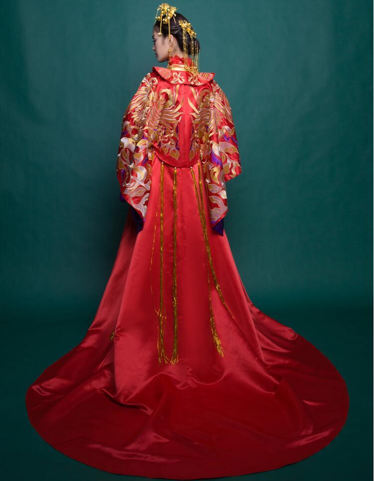 中式复古龙凤褂喜服中式礼服图片