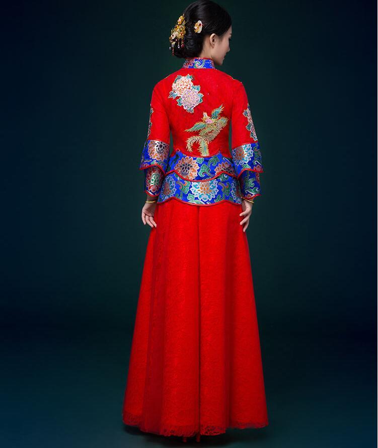 复古嫁衣古代喜服中式礼服
