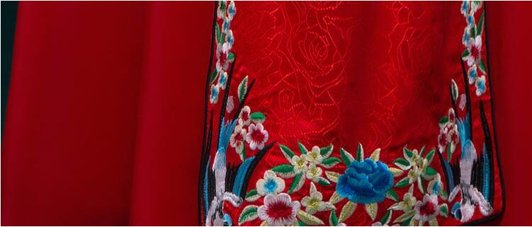 复古刺绣嫁衣中式礼服图片