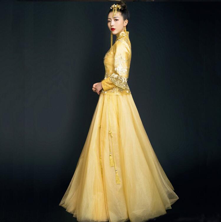 中国风刺绣嫁衣中式礼服图片