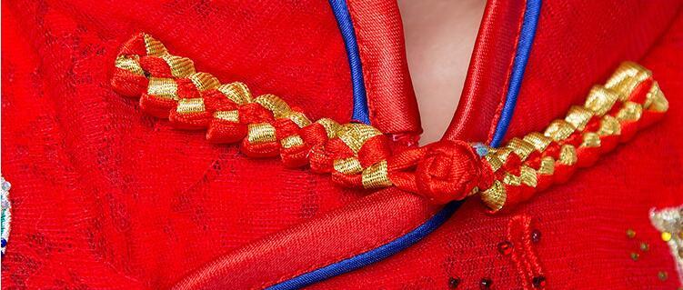 中国风刺绣中式婚纱中式礼服图片