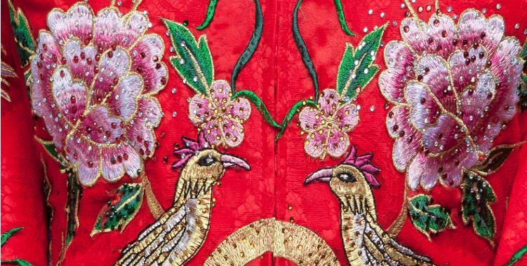 中式喜服民族风刺绣中式礼服