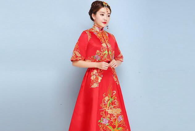夏季旗袍礼服中式婚礼礼服
