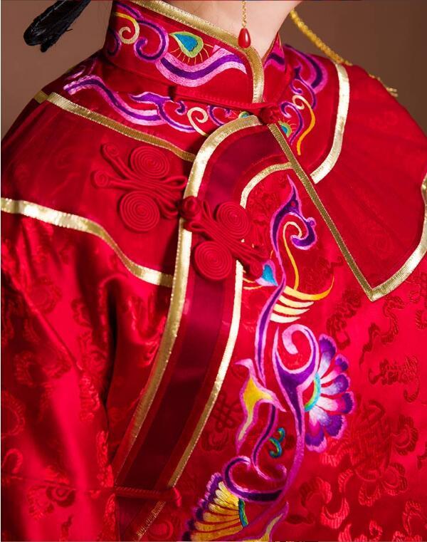 东方韵味龙凤褂中式婚礼礼服图片