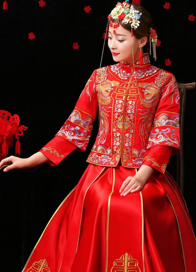中国风秀禾服嫁衣中式婚礼礼服