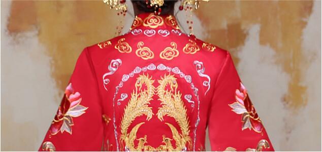 中国风苏绣秀禾服嫁衣中式婚礼礼服
