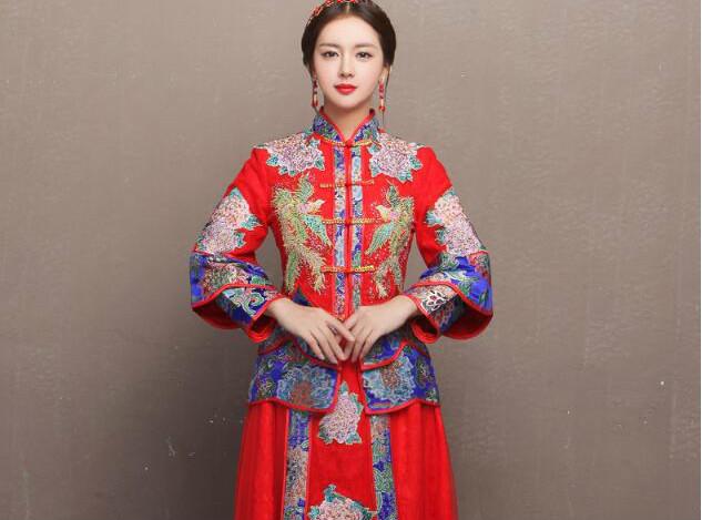 东方古韵秀禾服新娘礼服中式婚