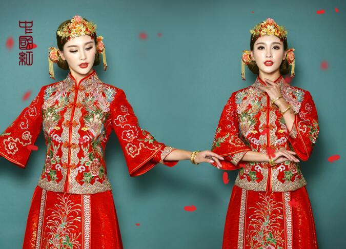 中国风秀禾服新娘礼服中