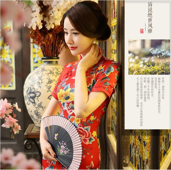 真丝旗袍旗袍晚礼服中式礼服