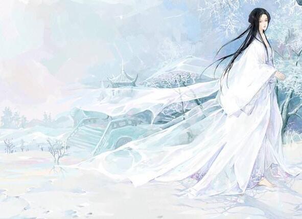 白衣女子,倾城倾国