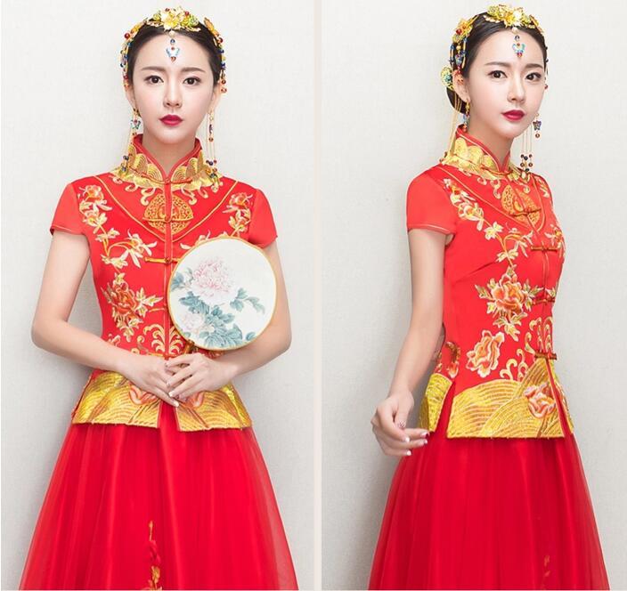 中国风新娘礼服中式婚礼礼服图片