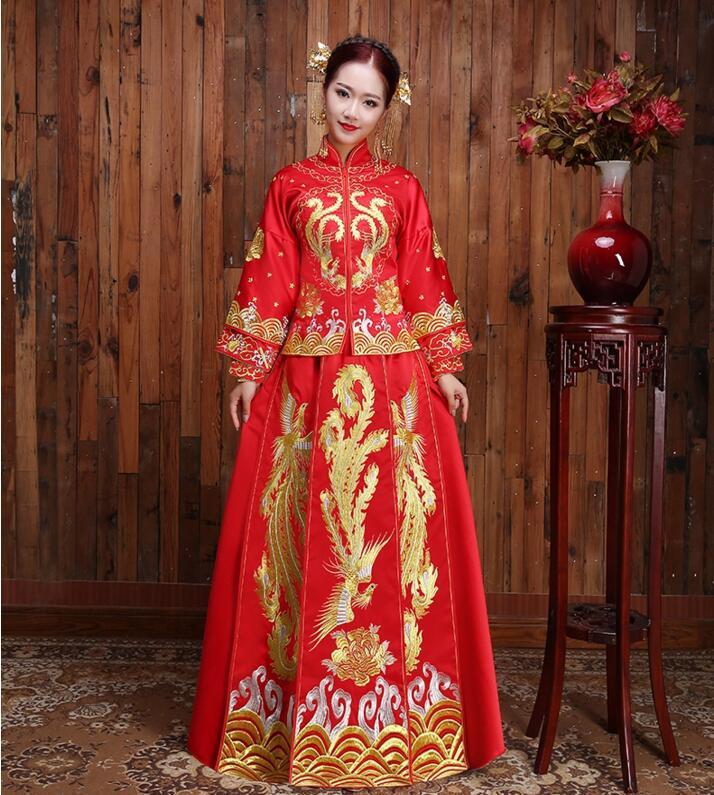 中式秀禾服发型_中国风秀禾服嫁衣中式礼服- 中国风