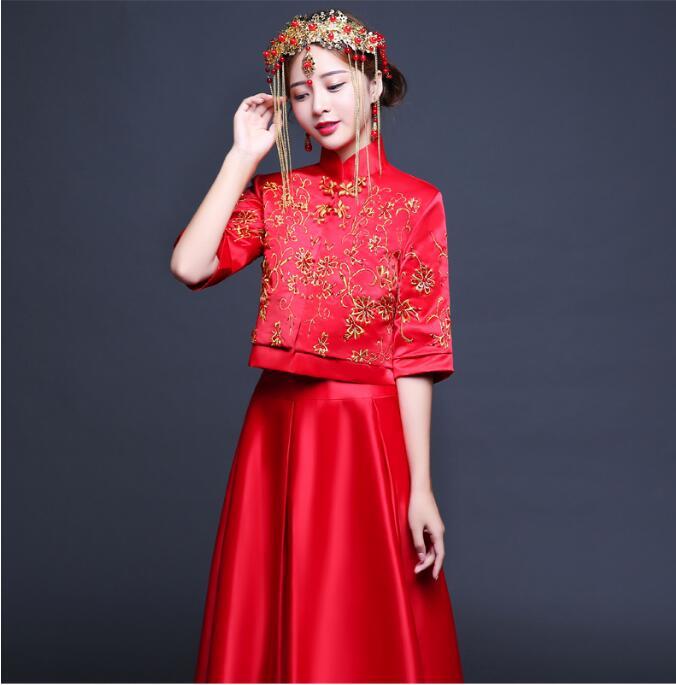 中国风秀禾服新娘嫁衣中式礼服