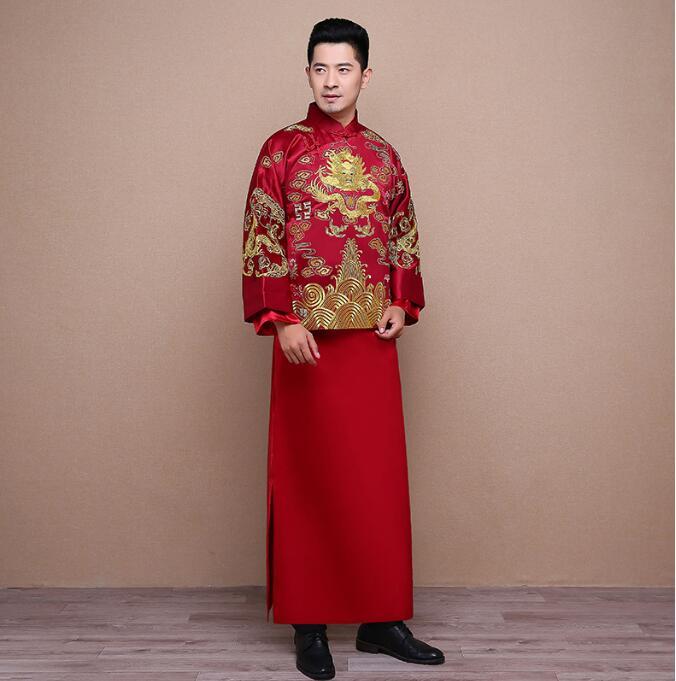 秀禾服男装新郎服马褂袍中式礼服