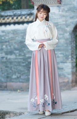汉服 绣花袄裙交领襦裙套装