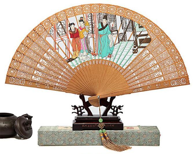 中国风檀香山和风工艺折扇