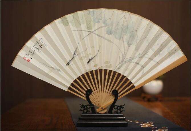 中国风玉竹折扇图片