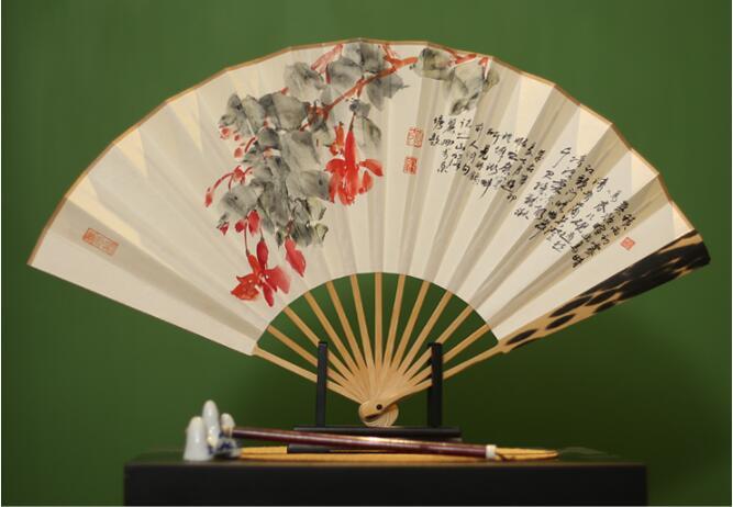 中国风手绘折扇