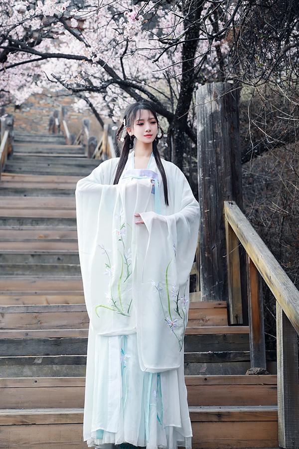 汉服绣花大袖衫广袖襦裙